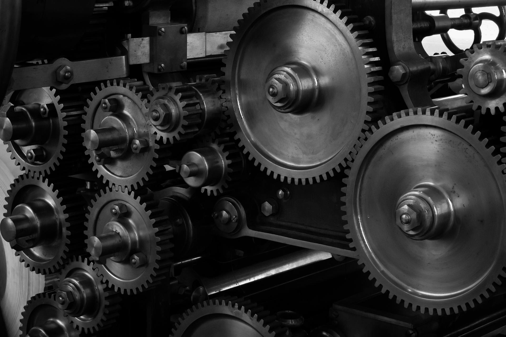 Gears on Machine