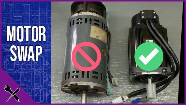 Replacing Brushless DC Motor with Servo Motor