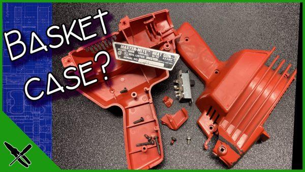 Broken Master-Mite Heat Gun Dissasembled